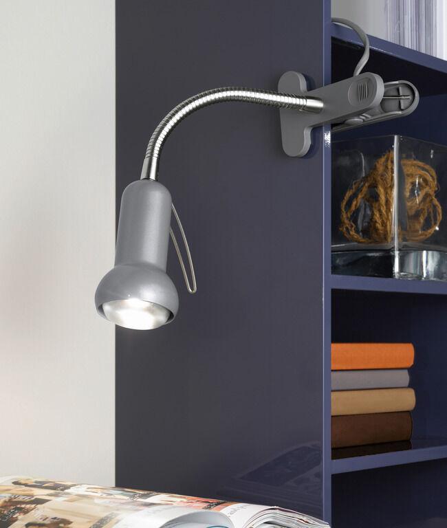 81265 EGLO FABIO csiptetős ezüst színű íróasztali lámpa