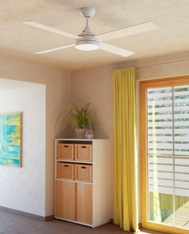 35084 EGLO TRINIDAD 3000-4000-5000K fehér vagy tölgy LED mennyezeti ventilátoros lámpa távirányítóval